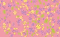 Naadloze Grunge Daisy Flower Abstract Vector Background Royalty-vrije Stock Foto's