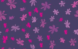 Naadloze Grunge Daisy Flower Abstract Vector Background Vector Illustratie