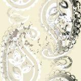 Naadloze grunge Paisley vector illustratie