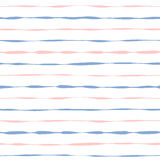 Naadloze grunge roze en blauwe strepen als achtergrond Royalty-vrije Stock Afbeelding