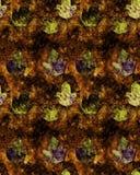 Naadloze grungeachtergrond met de herfstbladeren stock illustratie