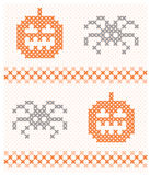 Naadloze Halloween achtergrond Stock Fotografie