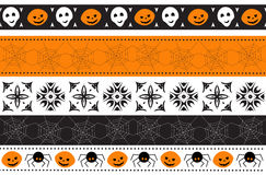 Naadloze Halloween-grens Vector illustratie Stock Foto's