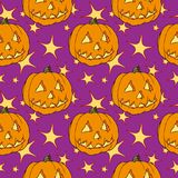 Naadloze Halloween pompoen stock illustratie