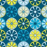 Naadloze helder Gekleurde Cirkelwielen Stock Fotografie