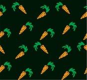 Naadloze heldere achtergrond Oranje wortelen op een achtergrond Stock Foto's