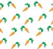 Naadloze heldere achtergrond Oranje wortelen op een witte achtergrond Royalty-vrije Stock Afbeeldingen