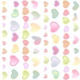 Naadloze heldere feestelijke achtergrond met multi-colored harten Stock Afbeeldingen