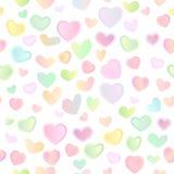 Naadloze heldere feestelijke achtergrond met multi-colored harten Royalty-vrije Stock Foto