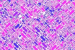 Naadloze heldere roze vormen en vormen die verpakkend patroon plateren Royalty-vrije Stock Foto's