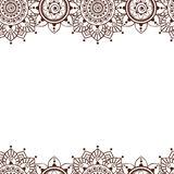 Naadloze Henna Borders Vector Abstract Floral-Patronen 4 Stock Fotografie