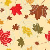 Naadloze herfstachtergrond Stock Foto