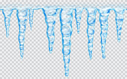 Naadloze herhaalbare ijskegels Royalty-vrije Stock Foto's