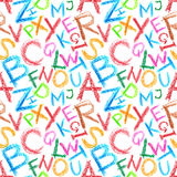 Naadloze het alfabet van het kleurpotlood Stock Afbeeldingen