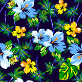 Naadloze het behang van de bloem Royalty-vrije Stock Afbeeldingen