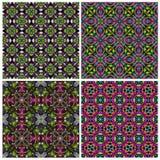 Naadloze het betegelen kleurrijke textuurinzameling Stock Afbeeldingen