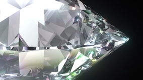 Naadloze het draaien 3D Briljante Diamant Volledige HD stock illustratie