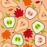 Naadloze het fruit van de herfst Royalty-vrije Stock Foto's