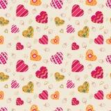 Naadloze het hart van het patroon vector illustratie