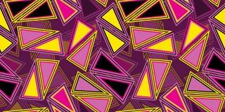Naadloze het herhalen achtergrond van driehoeken Royalty-vrije Stock Foto