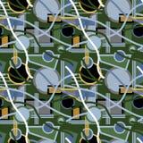 Naadloze het herhalen achtergrond van multi-colored geometrische vorm Vector Illustratie