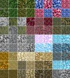 Naadloze het patroon Grote reeks van pixelcamo Groen, bos, wildernis, stedelijke, roze, blauwe, bruine camouflages Stock Afbeeldingen
