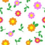 Naadloze het patroon van de bloem Stock Fotografie