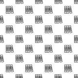 Naadloze het patroon van de bureauomslag royalty-vrije illustratie