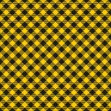 Naadloze het Patroon van de Mosterd Gele en Zwarte Geruite Stof Textuur Als achtergrond stock illustratie