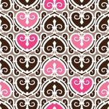 Naadloze het Patroon van het hart royalty-vrije illustratie