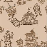 Naadloze het patroon van het huis Royalty-vrije Stock Afbeelding