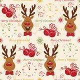 Naadloze het patroon van Kerstmis Royalty-vrije Stock Foto's
