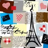 Naadloze het patroon van Parijs vector illustratie
