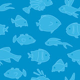 Naadloze het Patroon van vissen Royalty-vrije Stock Foto