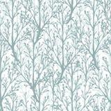 Naadloze het patroonachtergrond van de bosbomentextuur stock illustratie