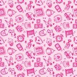 Naadloze het patroonachtergrond van de krabbelbaby Royalty-vrije Stock Afbeeldingen