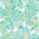 Naadloze het patroonachtergrond van de lentebessen Royalty-vrije Stock Foto