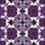 Naadloze het patroonachtergrond van de mozaïekcaleidoscoop - purple, het viooltje en het roze kleurden met grijze pleister Royalty-vrije Stock Afbeelding