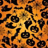 Naadloze het patroonachtergrond van Halloween Royalty-vrije Stock Afbeelding