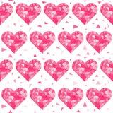 Naadloze het patroonachtergrond van harten Royalty-vrije Stock Afbeeldingen