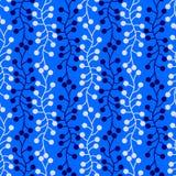 Naadloze het patroonachtergrond van het zeewiermeer vector illustratie