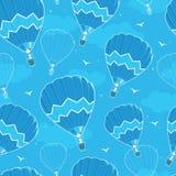 Naadloze het patroonachtergrond van hete luchtballons stock illustratie