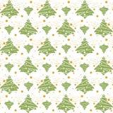 Naadloze het patroonachtergrond van Kerstmis Stock Afbeelding