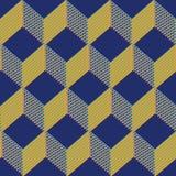 Naadloze het patroonachtergrond van kubussen Royalty-vrije Stock Foto