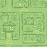 Naadloze het patroonachtergrond van stadsstraten Royalty-vrije Stock Afbeelding