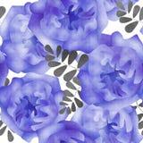 Naadloze het patroonachtergrond van waterverfbloemen Royalty-vrije Stock Foto's
