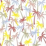 Naadloze het patroontextiel van de kokosnotenpalm vector illustratie