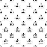 Naadloze het patroonvector van de blokregeling Stock Afbeelding