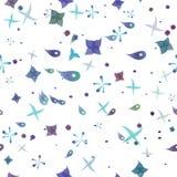 Naadloze het patroonvector van het plankton Royalty-vrije Stock Afbeeldingen