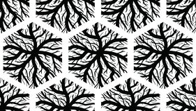Naadloze Hexagonale Aderstextuur stock illustratie